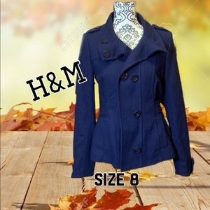 💕2for25 💕 Navy blue H&M pea coat